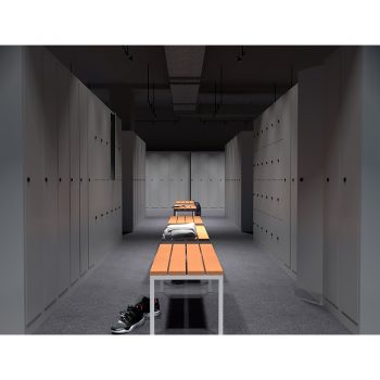 Locker Room Bench Seat Setting