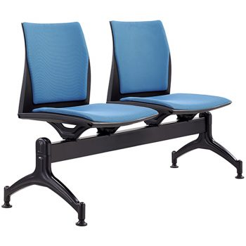 Rift 2 Seater Beam Seat with Optional Upholstered Seat and Back Pads