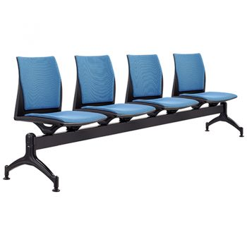 Rift 4 Seater Beam Seat with Optional Upholstered Seat and Back Pads
