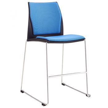 Rift Bar Stool with Optional Upholstered Seat and Back Pads