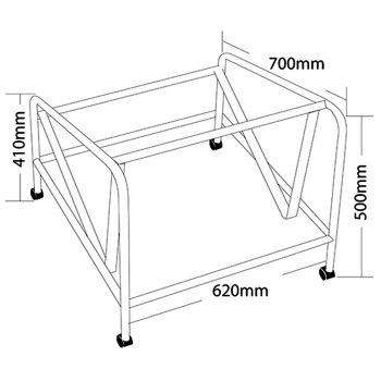 Rift Chair Trolley, Dimensions