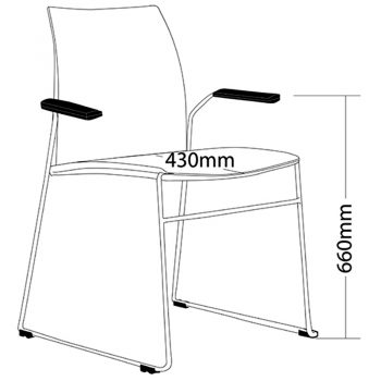 Rift Chair with Arms, Dimensions