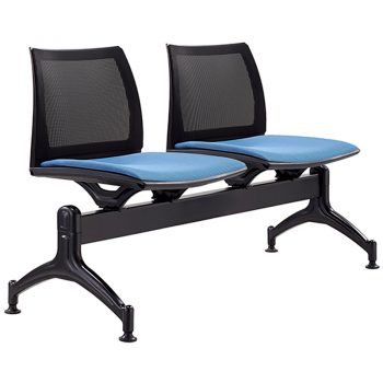 Rift Mesh Back 2 Seater Beam Seat with Optional Upholstered Seat Pads