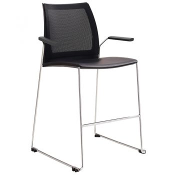 Rift Mesh Back Bar Stool with Arms