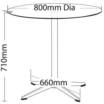 Sierra Table, Dimensions