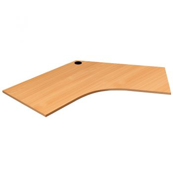 Smart 120 Degree Desk Top, Beech Colour