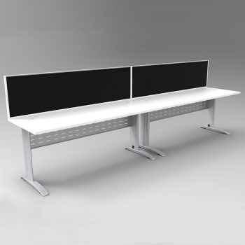 2 desks with dividers