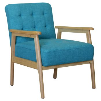 Teal aged care dining chair