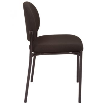 Katherine Visitor Chair, Black Fabric, Side View