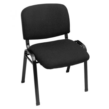 Nerang Visitor Chair, Black Fabric