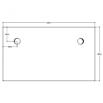 Straight Desk Top, Dimensions - 1200mm x 700mm