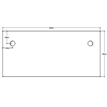 Straight Desk Top, Dimensions - 1500mm x 700mm