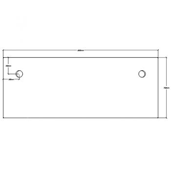 Straight Desk Top, Dimensions - 1800mm x 700mm