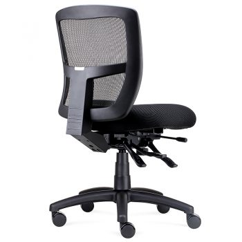 Summit Promesh Chair no Arms, Rear Angle View