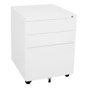 Super Heavy Duty Metal Mobile Drawer Unit, Standard Width, White