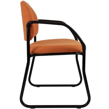 Alpha Visitor Chair with Arms, Side View