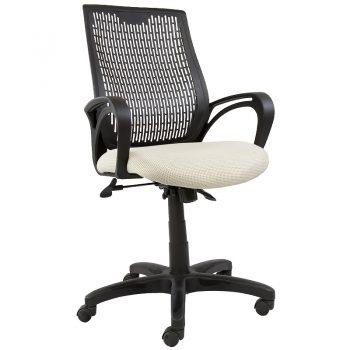 Nikki Office Chair, BD Cream Seat Fabric