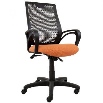 Nikki Office Chair, Orange Seat Fabric
