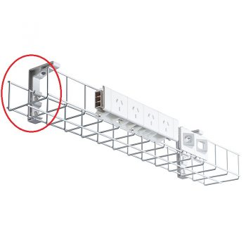 System Single Tier Under Desk Cable Basket, 4 Power Point - Extra Wide Size