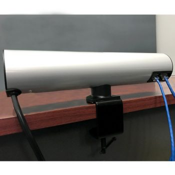 Access Desk Top Power Rail, Rear View with Data Patch Leads Connected