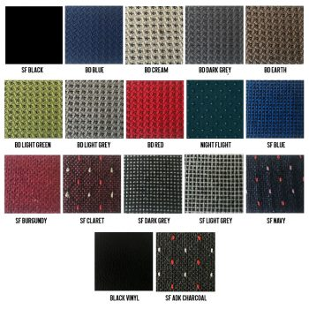 Chair Fabric Colour Range