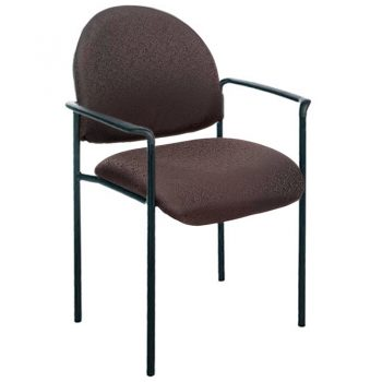 Form Visitor Chair, with Arms, Black Fabric