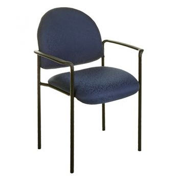 Form Visitor Chair, with Arms, Blue Fabric