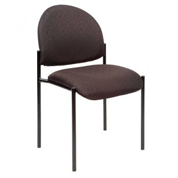 Form Visitor Chair, without Arms, Black Fabric