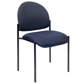 Form Visitor Chair, without Arms, Blue Fabric
