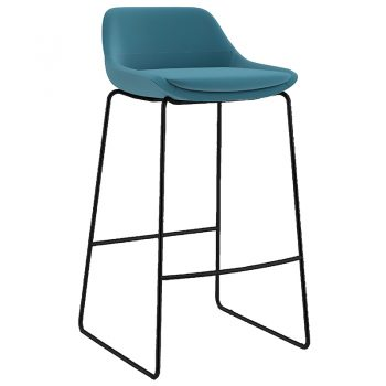 Foxy Bar Stool, Black Frame