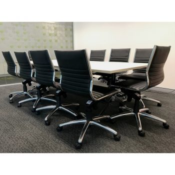 Kennedy Meeting Table and 10 Kudos Chair Package