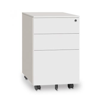 Monaco Metal Mobile Drawer Unit, White