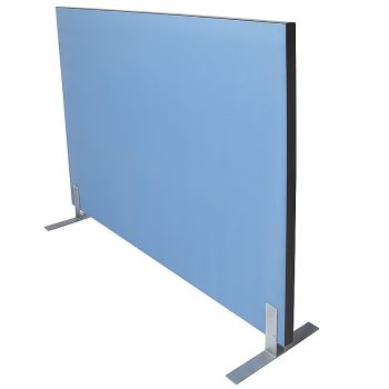 Pronto Portable Acoustic Screen Divider, Blue Fabric