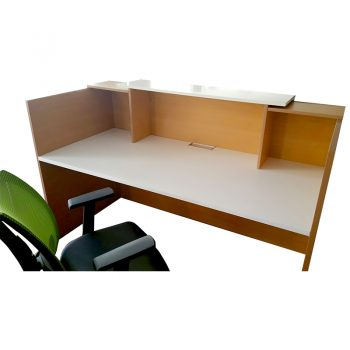 Rosalie Beech Reception Desk, Internal View