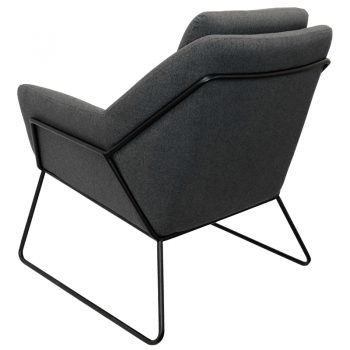 Beta Chair, Charcoal, Rear View