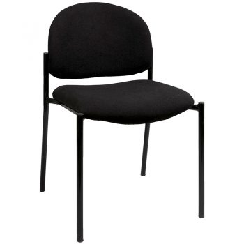 Lynx Visitor Chair, No Arms, SF Black Fabric