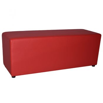 Red 2 seater ottoman