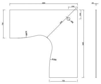 corner desk dimensions