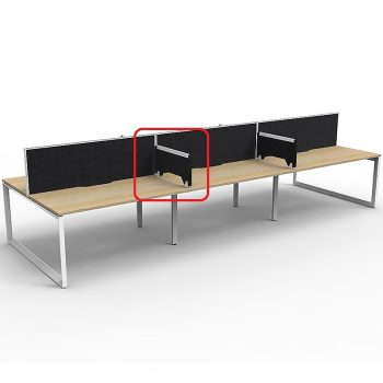 Optional Desk Dividers, Black