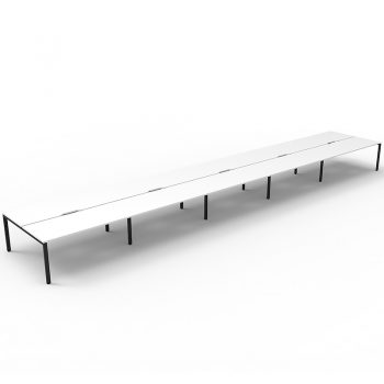 long black and white bench