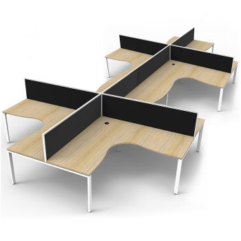 eight corner desks group