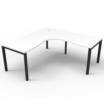 black and white l desk