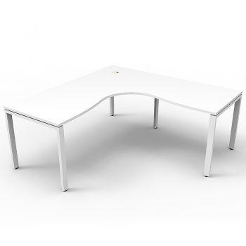 white L desk