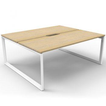 2 oak desks
