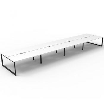 black and white desk pod