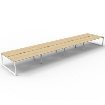 Oak desks, group