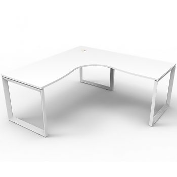 White corner computer desk