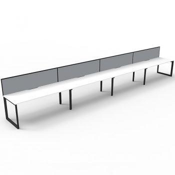 four white desks