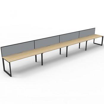 Oak Black Anvil Desk