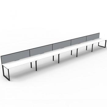 inline desks, with screen divider